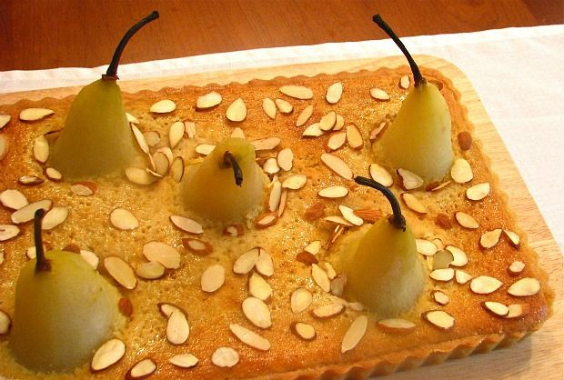 Frangipane Tart with Amaretto & Honey Poached Pears | Recipe | Joy of Kosher with Jamie Geller