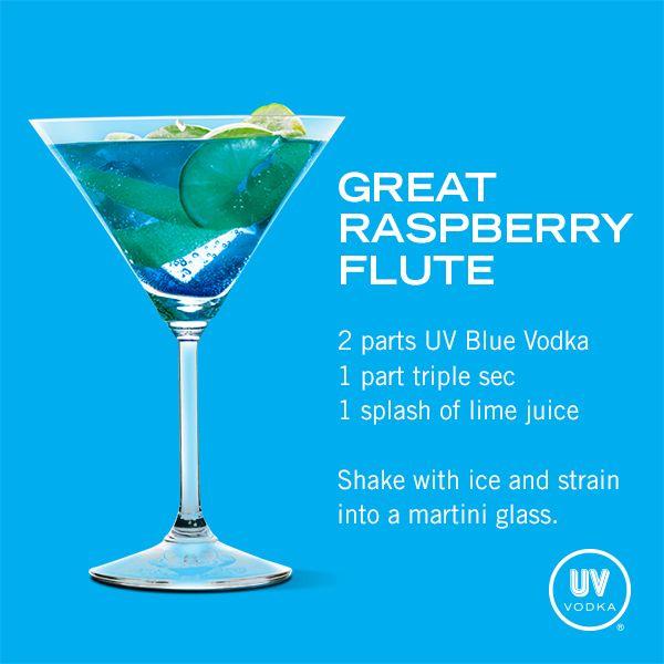 UV Vodka Recipe: Great Raspberry Flute