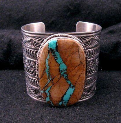Sunshine Reeves Navajo Royston Ribbon Turquoise Bracelet