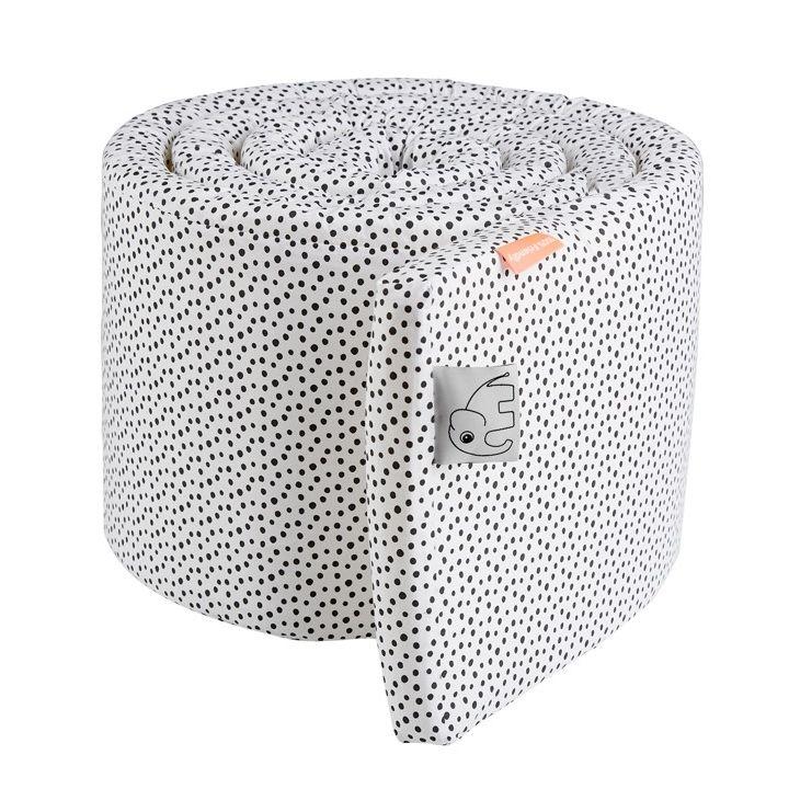 XL Babybett Nestchen \'Happy Dots\' weiß/schwarz 350cm