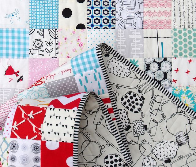 2016 Stash Buster Checkerboard Quilt - backing fabric | Red Pepper Quilts: