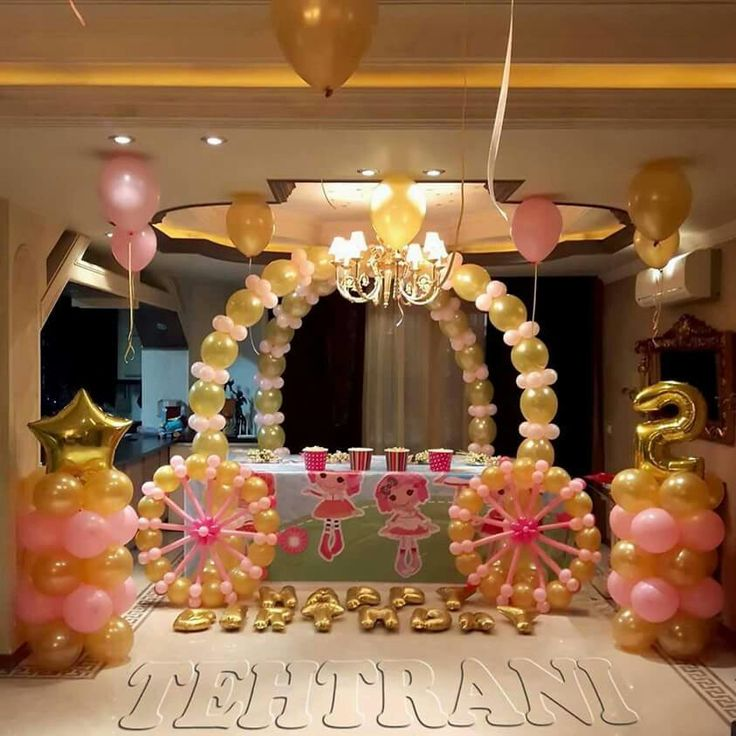 Cinderella Carriage Princess Birthday Party Ideas Balloon Decorations Ballon