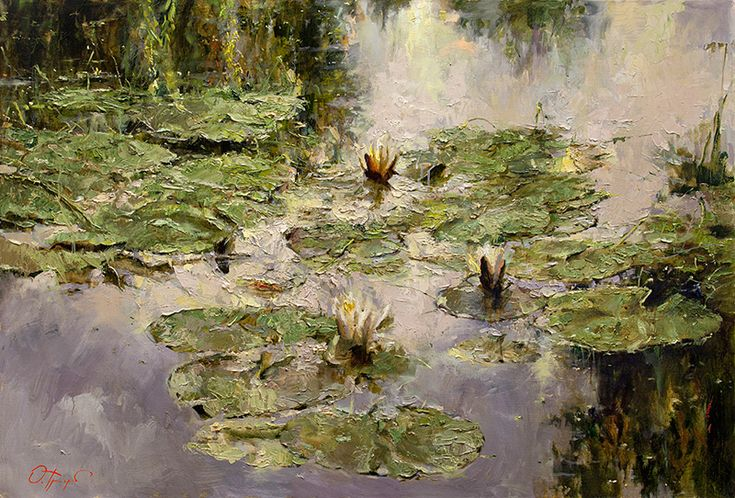 """SOLD- Lilies, 27"""" x 40"""", Oil painting"""