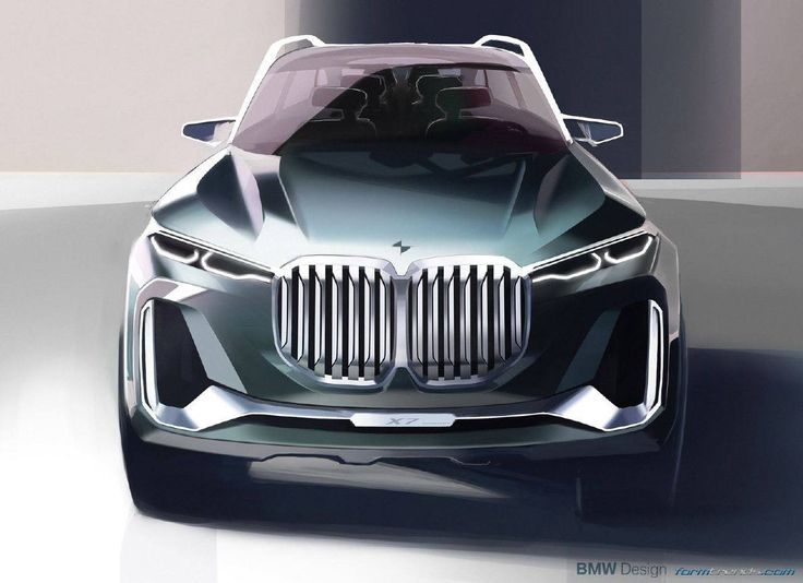 BMW X7 iPerformance concept sketch