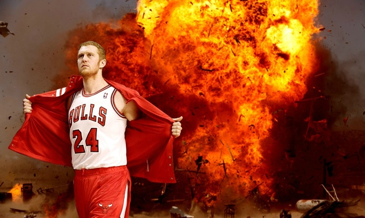 Brian Scalabrine explodes onto the scene.