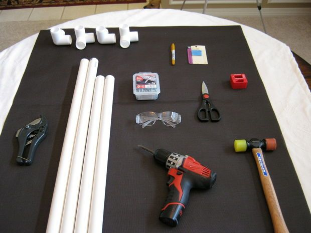 PVC pipe dog bed. Picture of Materials and Supplies