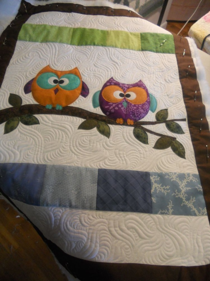 owl after quilting