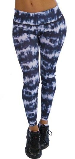 Blue And White Gym Leggings
