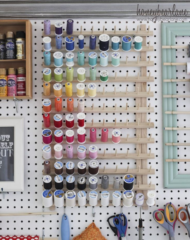 thread organization... I have one of these wooden racks but do I want my thread out gathering dust?