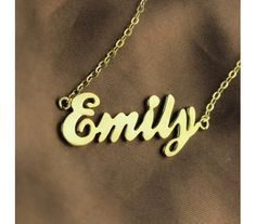 1000  images about Emily ♥ on Pinterest | Emily name Name necklace ...