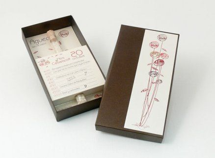 Invitación de boda - CAJA GRANDE CON PROBETA  E7106-D