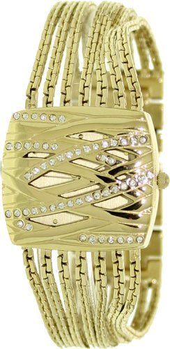 AK Anne Klein Women's AK-1042CHCV Swarovski Crystal Gold Tone Bracelet Watch Anne Klein. $80.75. Quartz Movement. Mineral Crystal. 30 Meters / 100 Feet / 3 ATM Water Resistant. 32mm Case Diameter. Save 15%!