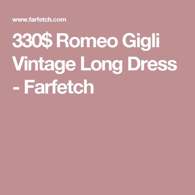 330$ Romeo Gigli Vintage Long Dress  - Farfetch