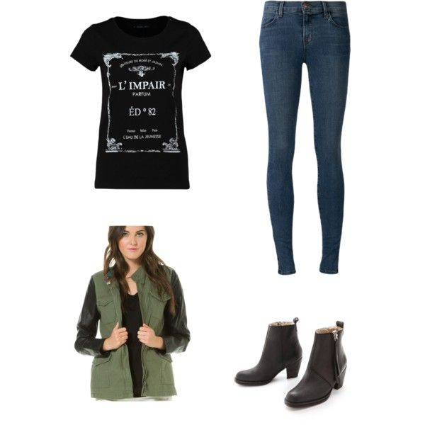 A fashion look from January 2015 featuring even&odd t-shirts, Element  jackets and J