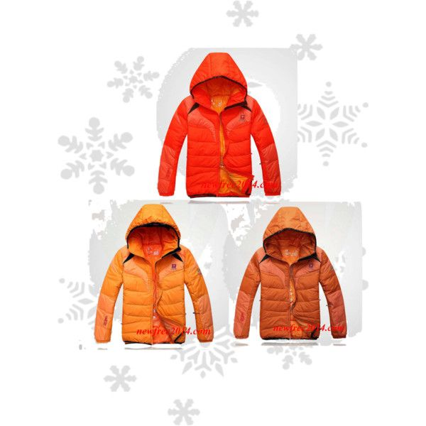 """""""Orange Jack Wolfskin Mens Down Jackets For Cheap"""" by trendmaven-759 on Polyvore"""