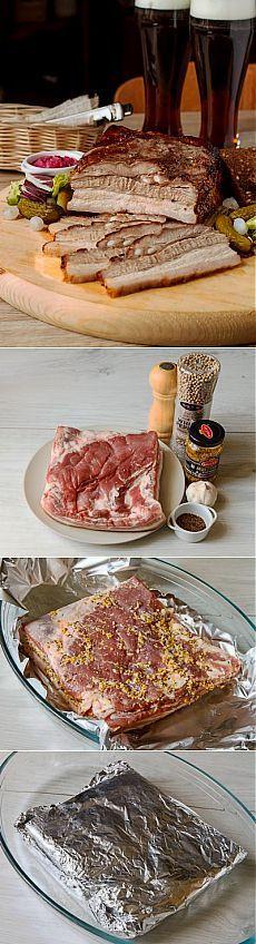 Запеченная свиная грудинка в медовой глазури