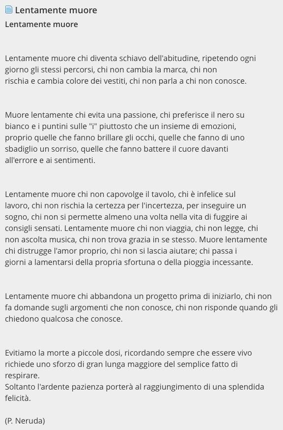 Lentamente muore - Pablo Neruda