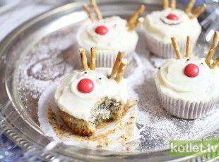 Muffiny makowe renifery