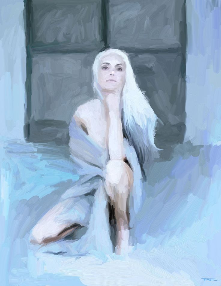 Name: Blue Woman, White Jazz Author: Erik Teodoru https://www.facebook.com/erik.teodoru  ID number: 350 Year: 2018 Software Tool: ArtRage 5.0.3 Model: Yazemeenah Rossi Original Source Image: Facebook photo  #artrage  #painting	#paint  #art	#myart  #artwork	#illustration	#graphic  #beautiful 	#drawing   #creative  #hot 	#cool  #love	#woman	#feminine	#femininity	#beauty  #color	#red 	#blue #yazemeenahrossi #yazemeenah #yasminarossi