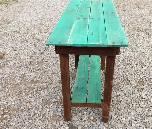 DIY Pallet Side Table | Pallet Furniture DIY
