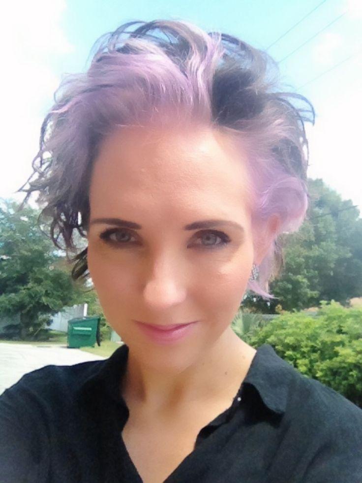 Short lavender hair