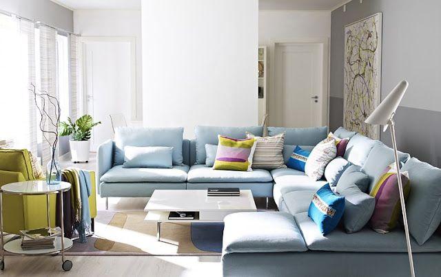 Скандинавский стиль - ЦВЕТА, нейтральные цвета, слегка акцентные подушки, разный цвет стен