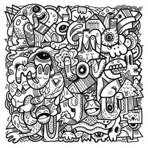 Vintage Patterns Coloring Pages. Doodle Monster  Zentangle Patterns Coloring Pages Books A5 Bricks Doodles Colouring Vintage 51 best images on Pinterest pages