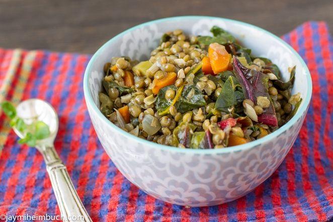 Green lentil and swiss chard stew  #healthy #vegan #recipe