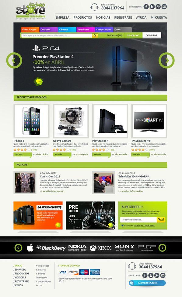 techno store - shop online by juan esteban santa, via Behance  http://www.behance.net/gallery/techno-store-shop-online/11754881