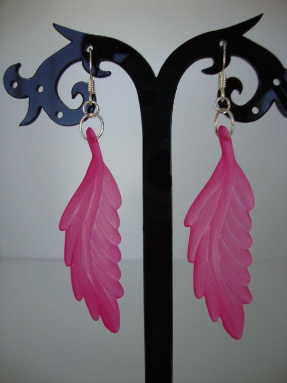 Acrylic leaf earrings