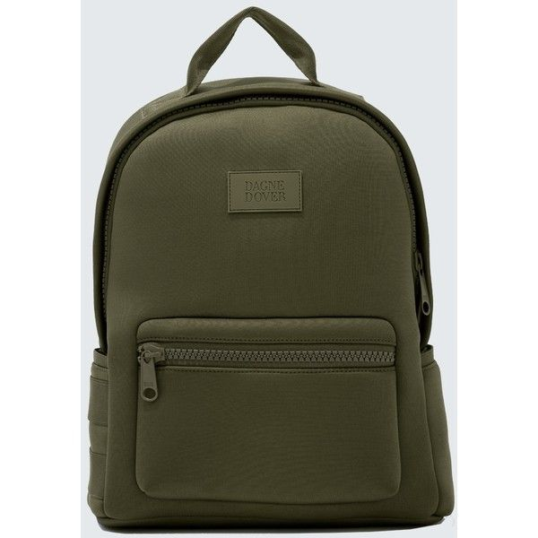 Dagne Dover Dakota Backpack ($175) ❤ liked on Polyvore featuring bags, backpacks, dark moss, polka dot bag, lock bag, green backpack, polka dot backpack and green bags