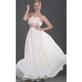 A-line Strapless Long Ivory Chiffon Cocktail Dresses(BD461.139)_Leave as is but add shoestring straps and shorten to mid calf