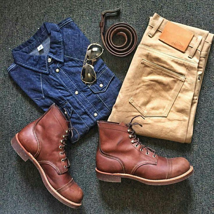 Outfit grid - Denim shirt & boots