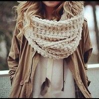 Chunky knit scarf #in #love #scarf #knot #winter #fashion