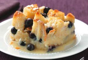 Blueberry Bread Pudding w/Lemon Sauce | Sweets - Cream Pies, Custards ...