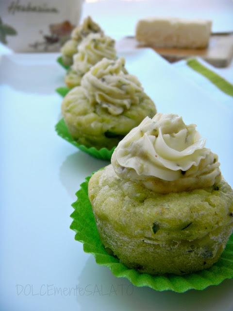 cupcakes di zucchine con crema di burro