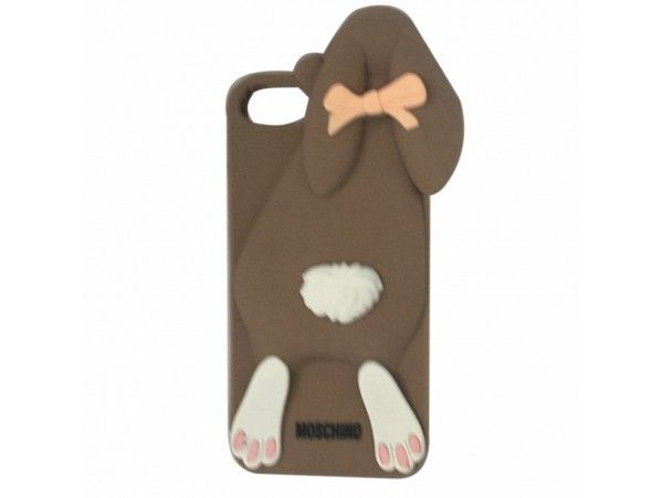 3D Cute Rabbit Cartoon Soft Silicone Phone Case For iPhone 5 & 5s (Brown)