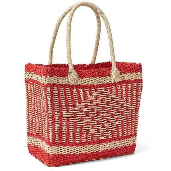 Gap Women Diamond Weave Tote ($50) ❤ liked on Polyvore featuring bags, handbags, tote bags, red, regular, red purse, gap tote bag, red tote bag, red tote handbag and handbags totes