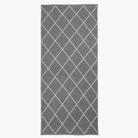 Szőnyeg STORNESLE 70x160 szürke/fehér