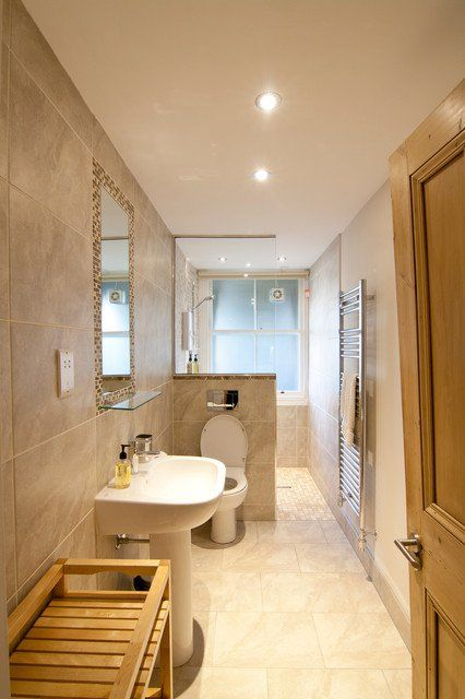 25 best ideas about long narrow bathroom on pinterest for Long bathroom ideas