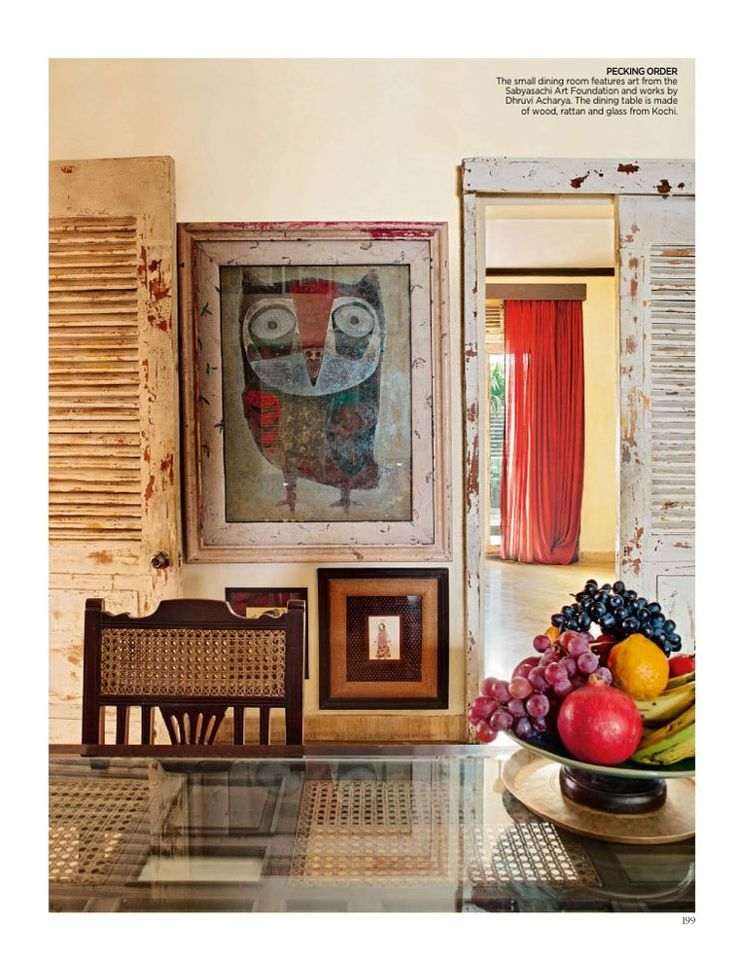 Simple artful decor From Architectural Digest India