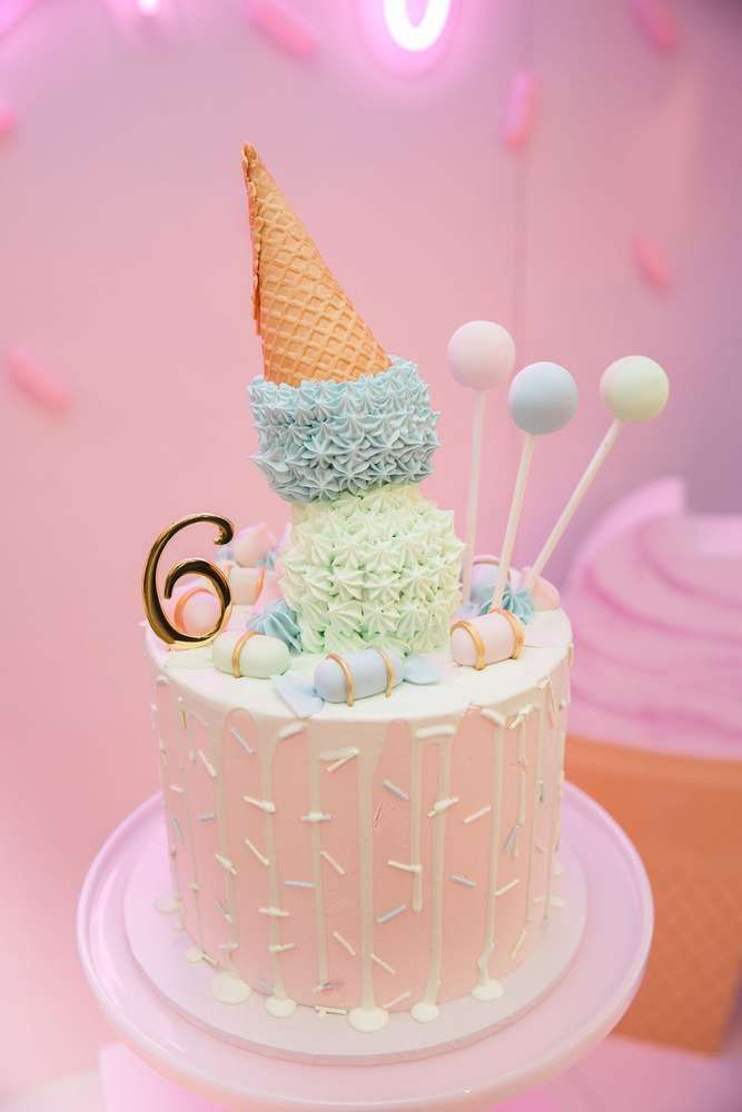Pastel Sweet 2nd Birthday Party With Images Ice Cream Birthday