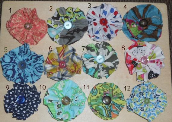 Fabric Flower Hair Clip Headband Amy Buter by myfavoritesweets, $3.50: Headband Amy, Fabric Flowers, Amy Buter, Flower Hair Clips