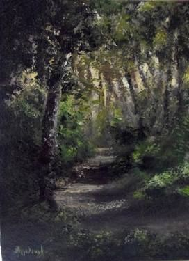 "Saatchi Art Artist ΑγγελικΗ  Aggeliki; Painting, ""The Path"" #art Size: 40 H x 30 W x 1.5 cm"