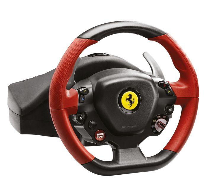 [CATALOGUE GENERAL 2015] Thrustmaster Ferrari 458 Spider Racing Wheel. LE volant indispensable pour les jeux de course, sous licence officielle Xbox One. Equipement complet pour toutes les actions de pilotage avec 2 palettes de vitesses séquentielles, 9 boutons d'action, 1 Manettino®, 1 D-Pad, 1 bouton Xbox Guide et 1 led de détection d'appairage pour Kinect. Réf. 4460105 http://www.exertisbanquemagnetique.fr/info-marque/thrustmaster #Thrustmaster #Volant #Gaming #Xbox
