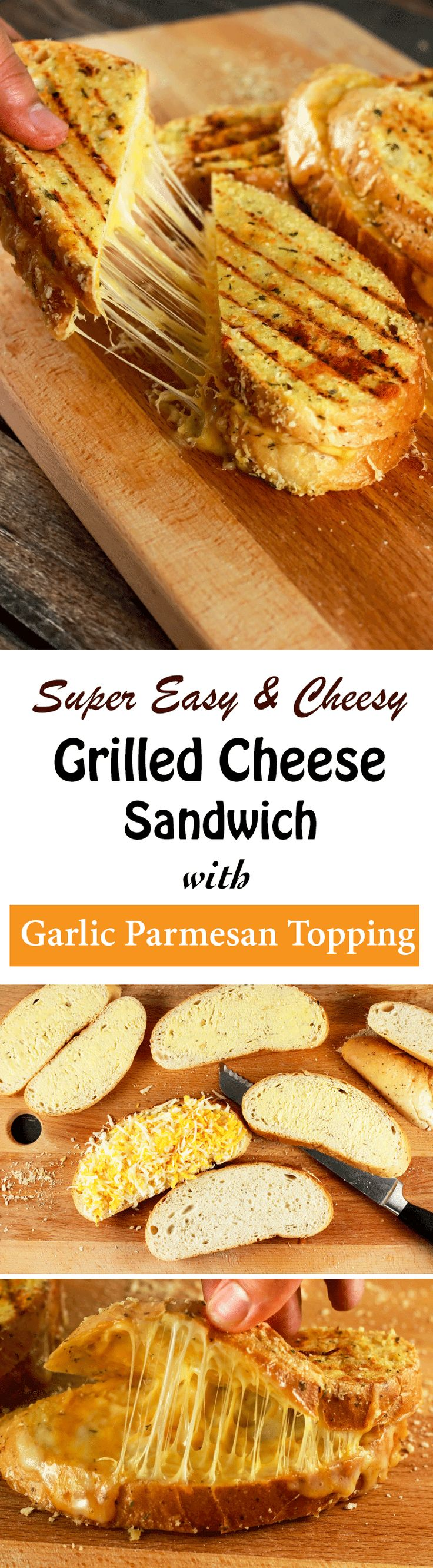 This grilled cheese sandwich is going to quickly become your absolute favorite! It's SUPER easy to make and the kids are going to love this!