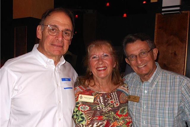 Dr. Fred Bloom, Virginia Stephens and Bill Wallace at the Tsunami Meet & Greet in downtown Sarasota in November 2013