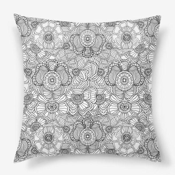 Подушка «Паттерн цветы»