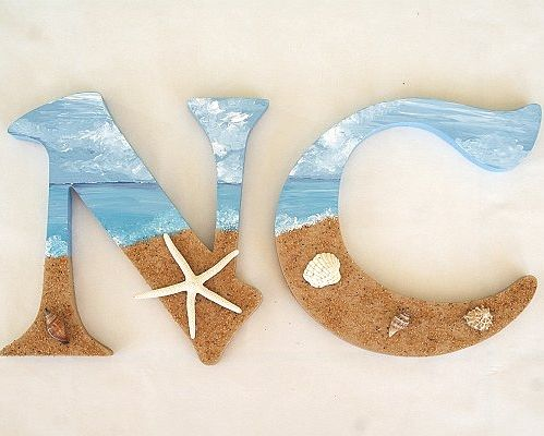 Top 10 DIY Ideas for Decorative Letters with a Beach Theme: http://www.completely-coastal.com/2013/09/diy-decorative-letters-beach.html
