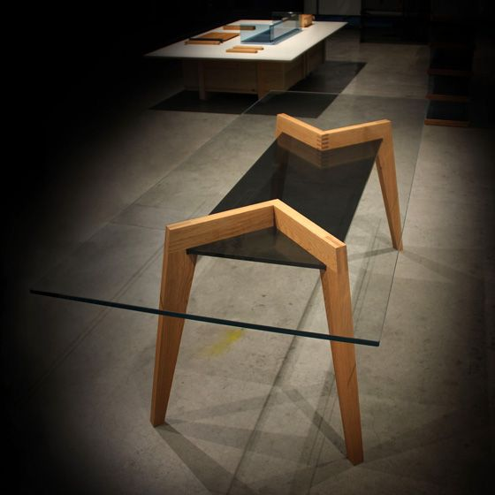 'Spike' Table by Lukas Bürki for Glas Trösch